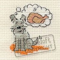 Mouseloft Stitchlets 'Little Dog - Daydreaming' Cross Stitch Kit