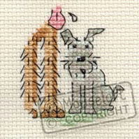 Mouseloft Stitchlets 'Little Dog - You're Very Tall' Cross Stitch Kit