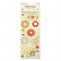 Dovecraft 'Garden Party' 3D Flower Stickers
