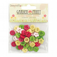 Dovecraft 'Garden Party' Button Pack