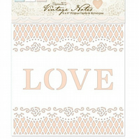 "Papermania 'Vintage Notes' 6"" x 6"" Filigree Cards and Envelopes"