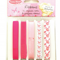 Fizzy Moon 'Hearts and Butterflies' Ribbon Pack