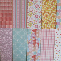"Dovecraft 'Blooming Lovely' 6"" x 6"" FSC Papers 12 SHEETS"