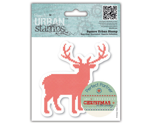 Papermania 'Christmas in the Country' 'Stag' Urban Cling Stamp