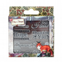 Santoro Willow 'Sentiments' Clear Stamp Set