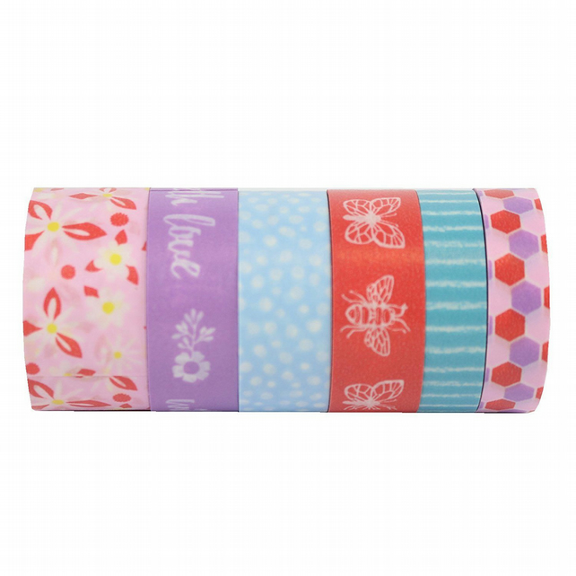 Dovecraft 'Blooming Lovely' Washi Tape Set