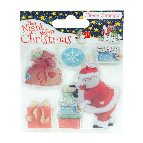 'The Night Before Christmas by Helz Cuppleditch' 'Santa' Clear Stamp Set