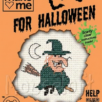 Mouseloft Stitchlets 'Make Me For Halloween - Witch' Cross Stitch Kit