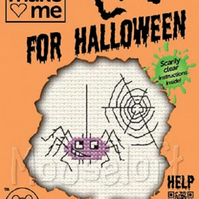 Mouseloft Stitchlets 'Make Me For Halloween - Spider' Cross Stitch Kit