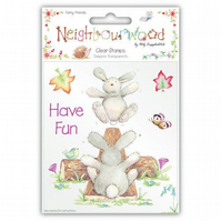 Helz Cuppleditch 'Neighbourwood - Furry Friends' Clear Stamps Set