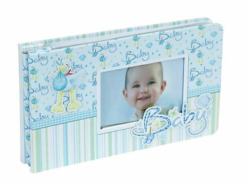 "Hand Embellished Baby Boy Photograph or Memory Album 6"" x 4"""