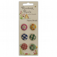 'Riverbank Revels by Helz Cuppleditch' Fabric Brads