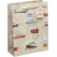 'Planes and Ships' Medium Luxury Gift Bag