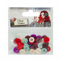 Santoro 'Willow' 60 Plastic Buttons