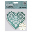 "Papermania 'Vintage Notes' 'Heart' 5"" x 5"" Urban Cling Stamp"