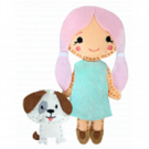 The Crafty Kit Company 'Sew Your Own Felt Doll and Puppy' Kit
