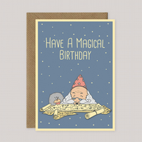 Have a Magical Birthday - Funny Cat-Themed Birthday A5 Card - Cat Lovers Gift
