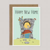 Happy New Home - Funny Cat-Themed Card - Cat Lovers Gift