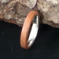 BentWood Silver ring