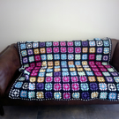 Granny Square Crochet Afghan-Throw -Blanket