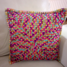 Granny Square Crochet Cushion