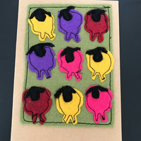 Appliqué sheep card any occasion