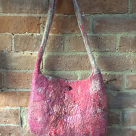 Hand Dyed Wet Felted Bag