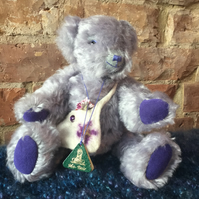 MoBair Hand Made Lilac Teddy Bear