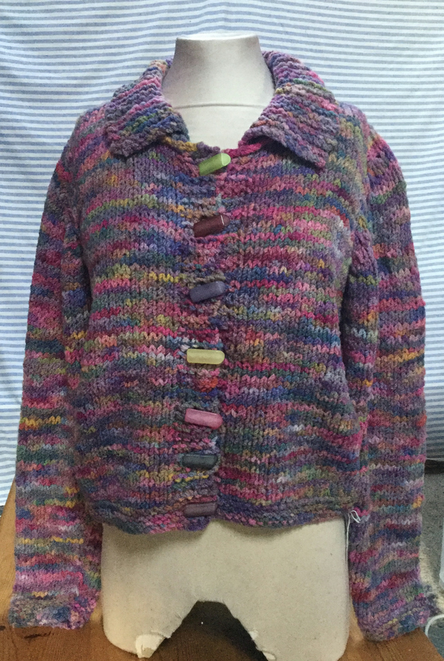 MoBair Hand Dyed Hand Knitted Ribble Cardigan