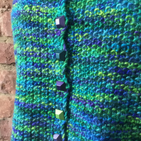 MoBair BFL Wool Roving Hand Dyed Hand Knitted Waistcoat