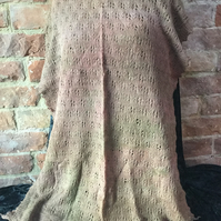 MoBair Hand Dyed Baby Alpaca & Wool Stole 80x32 Pastle Tones