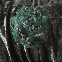 MoBair Kid Mohair Locks Hand Dyed Random Emerald Greens