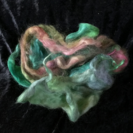 MoBair Kid Mohair Tops Hand Dyed Random Greens Pinks
