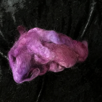 MoBair Kid Mohair Tops Hand Dyed Random Purple Pinks