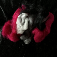 MoBair Kid Mohair Tops Hand Dyed Random Greys Pink Black