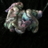 MoBair Kid Mohair Tops Hand Dyed Random Turquoise Greens Pinks