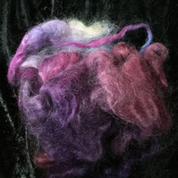 MoBair Kid Mohair Tops Hand Dyed Random Purple Ruby