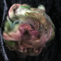 MoBair Kid Mohair Tops Hand Dyed Random Green Red Forest Colour