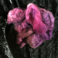 MoBair Kid Mohair Tops Hand Dyed Random Purples Pinks