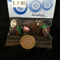 Dress It Up Buttons Decadence Cupcakes