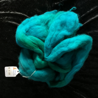 Mobair Hand Dyed Random Merino Wool Tops Sea Blue