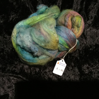 Mobair Hand Dyed Random Merino Wool & Silk Tops Garden Colours