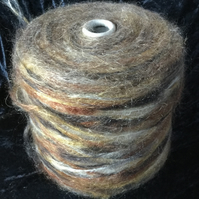 Brushed DK Mohair Multi Coloured Tonal Browns
