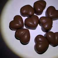Vegan Chocolate Solid Hearts