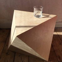 OCTA.. Geometric end or side table - a perfect Octahedron..
