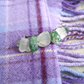 Sea glass hairclip - small.  Mermaids tears, upcycled recycled glass.