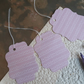 3x large gift tags - pink waves