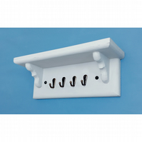 Wooden Key Rack With Shelf in Winter Grey