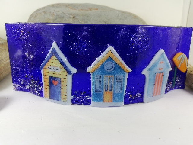 Fused Glass Beach Hut
