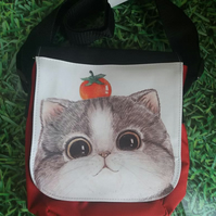 Cat and Apple Crossbody bag